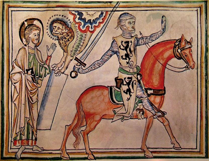Cavaleiro parte para a Cruzada abençoado por São Marcos