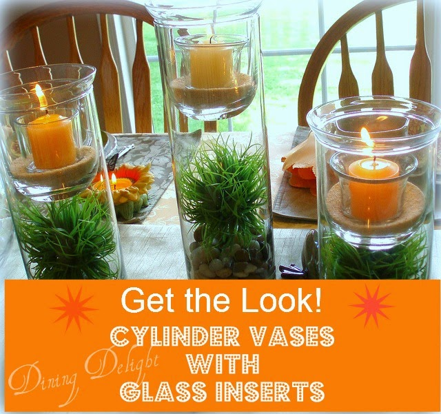 Cylinder Vases with Glass Inserts -    Get the Look!