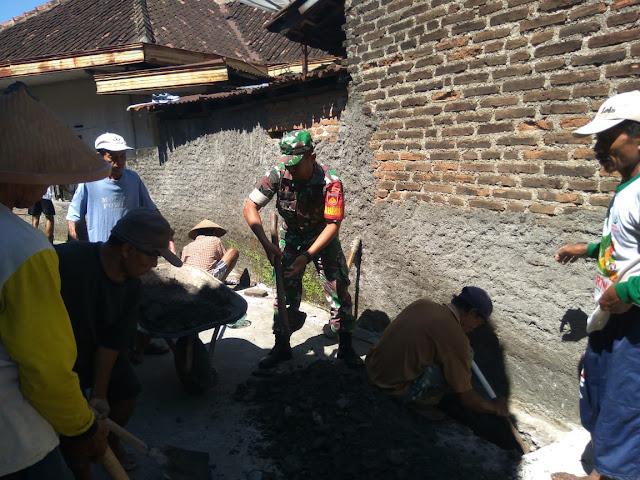 Kodim Karanganyar – Upaya Babinsa Dalam Menghidupkan Budaya Gotong Royong
