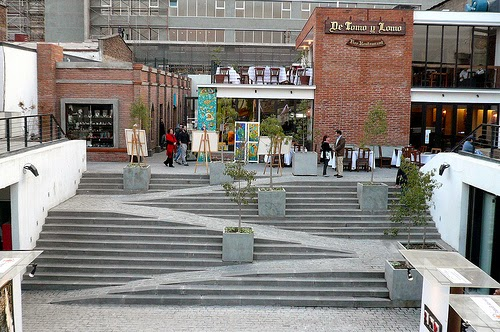 Pátio Bellavista em Santiago