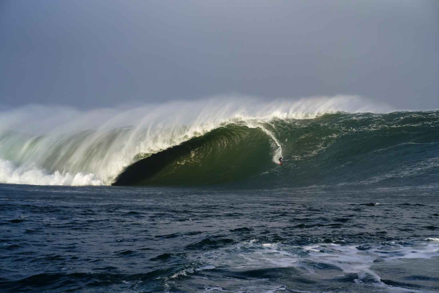 Conor Maguire caught what some are calling the biggest wave ever surfed in Ireland WorldSurfLeague