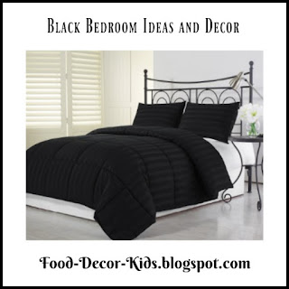 Black Bedroom Decor  Ideas