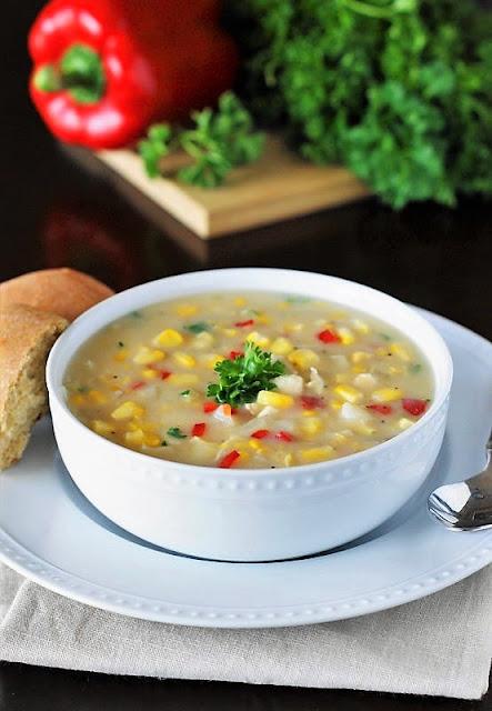 Bowl of Creamy Chicken Corn Chowder Image
