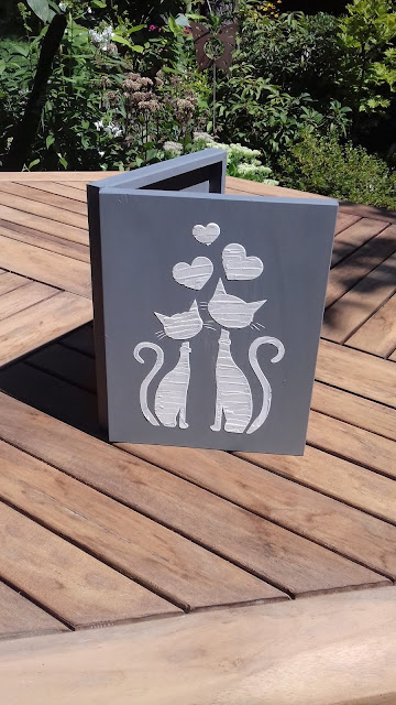 Inspiracje ze świata przyrody – książka – szkatułka z kotami ;)