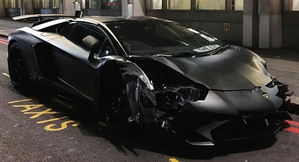 2018 lamborghini matte black.  matte matte black lamborghini aventador sv roadster crashes in london wvideo to 2018 lamborghini matte black o