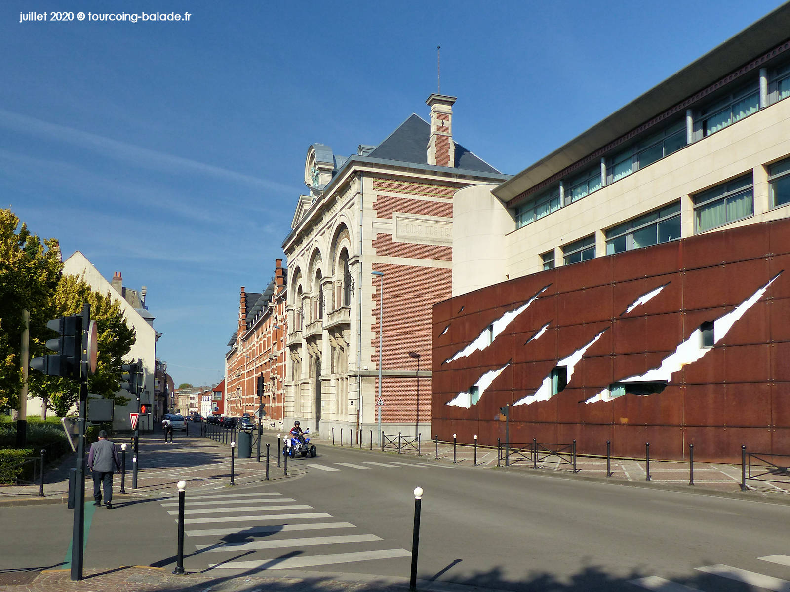 Début de la rue de Gand, Tourcoing 2020