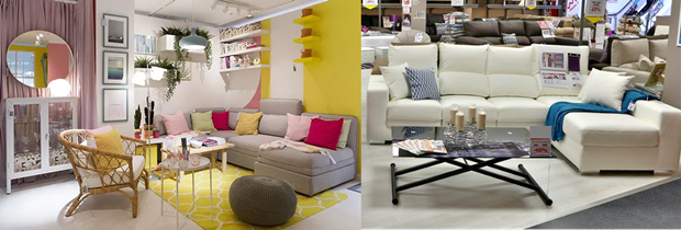 Comparativa de exposición de Ikea