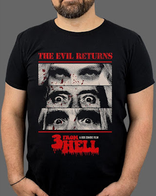 "FRIGHT-RAGS' 3 FROM HELL - ""THE EVIL RETURNS"" TEE"