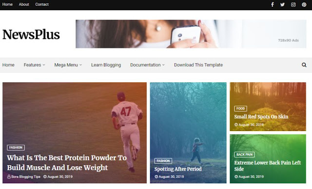 Best Free Responsive Blogger Themes 2020