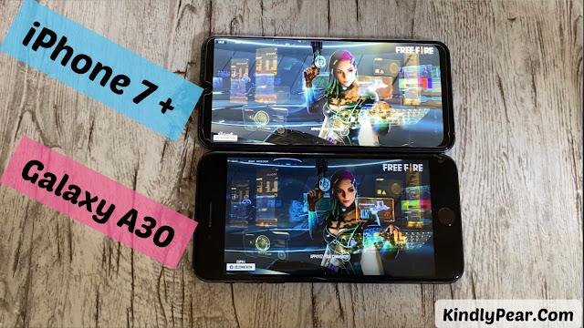 مقارنة بين iPhone 7 plus vs Galaxy A30 أيهما الأقوى في تشغيل الألعاب