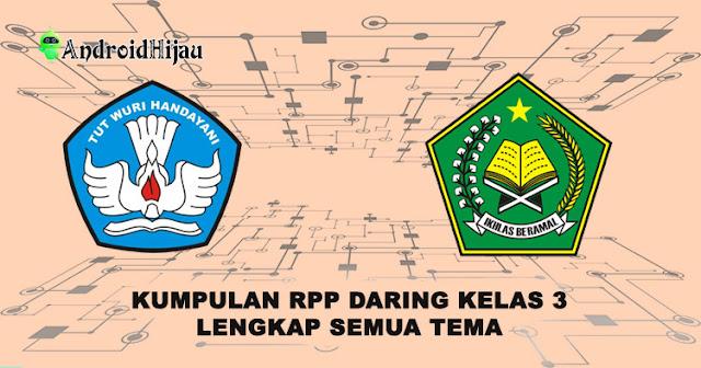 RPP daring kelas 3 semua tema, rpp 1 halaman kelas 3 lengkap, rpp k13 1 lembar kelas 3