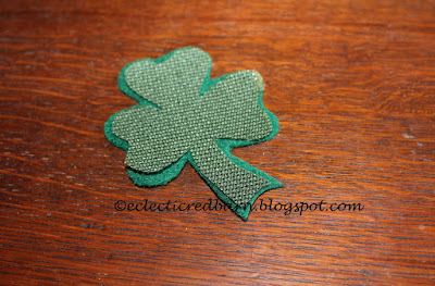 Eclectic Red Barn: Shamrocks cut: place one on top of the other