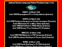 Jadwal Pekan Perdana Liga 1 2018