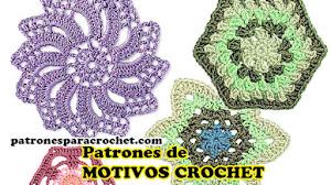 Patrones de hexágonos y motivos redondos a crochet