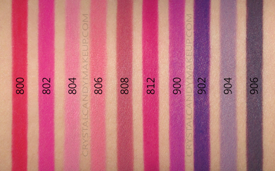 Make Up For Ever Artist Color Pencils MUFE Swatches 800 802 804 806 808 812 900 902 904 906