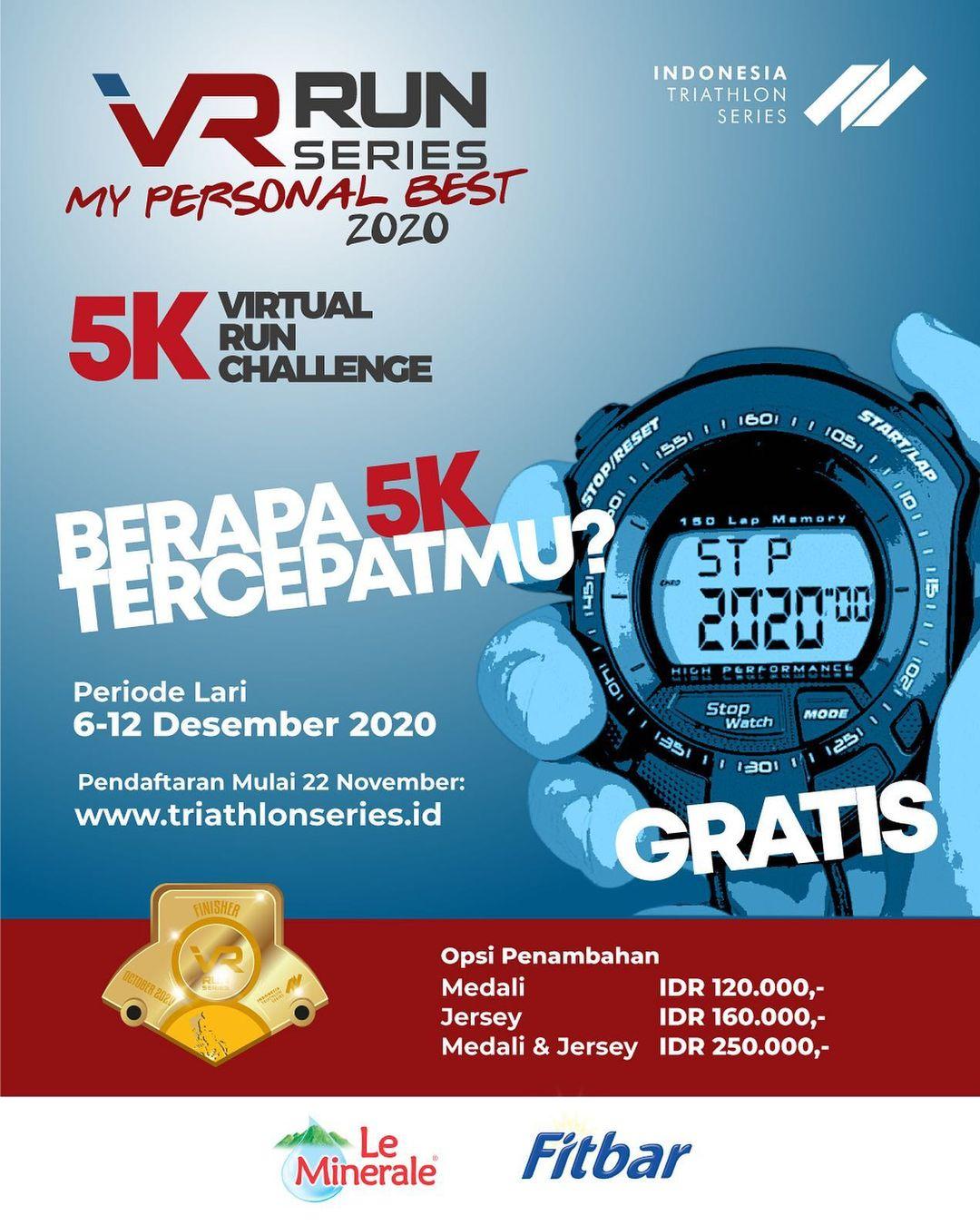 Indonesia Triathlon Series - VR Run Series ∙ My Personal Best • 2020