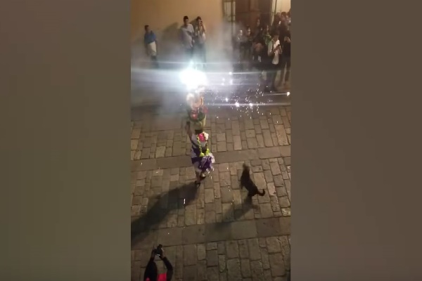 Woman Spins With Firework Show After That Roaming Swoops In As Well As Outshines Her