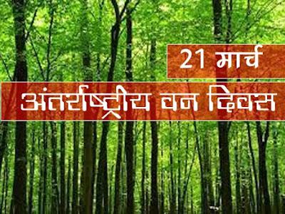 अंतर्राष्ट्रीय वन दिवस 21 मार्च International Forest Day 21 March