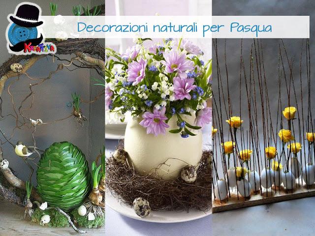Decorazioni naturali per Pasqua