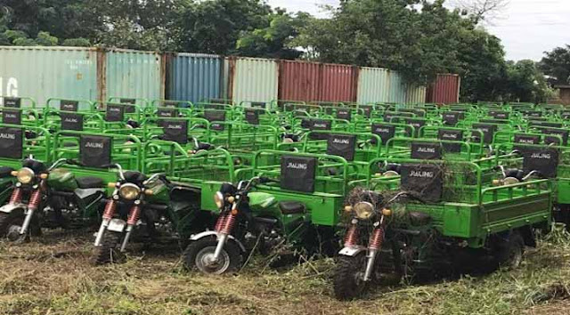 The tricycles that was reported stolen