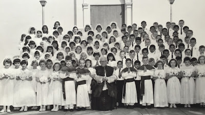 Timothy Lewis First Holy Communion - Father Dowling at St. Therese in Fresno, CA