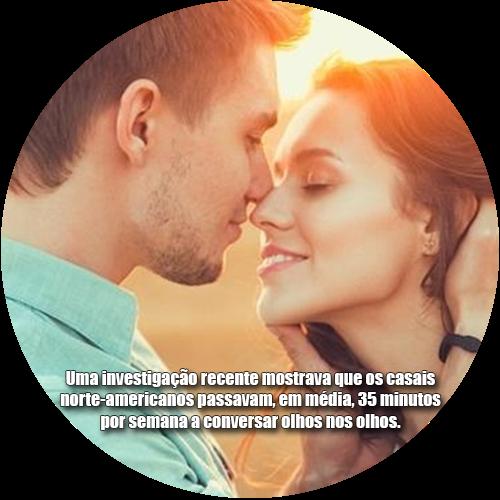 Uma investigação recente mostrava que os casais norte-americanos passavam, em média, 35 minutos por semana a conversar olhos nos olhos.