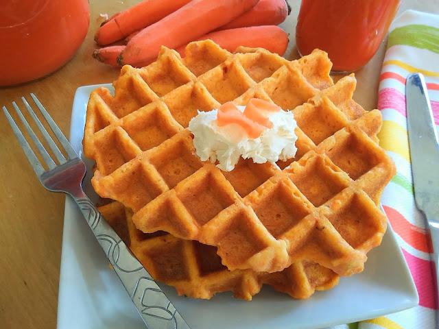 Carrot Juice Pulp Waffles