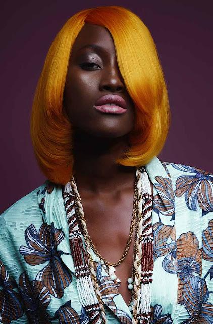 color de cabello naranja claro