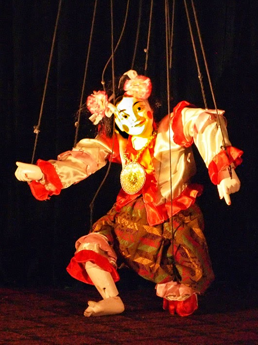 Burmese marionette tradition yoke thay appeared