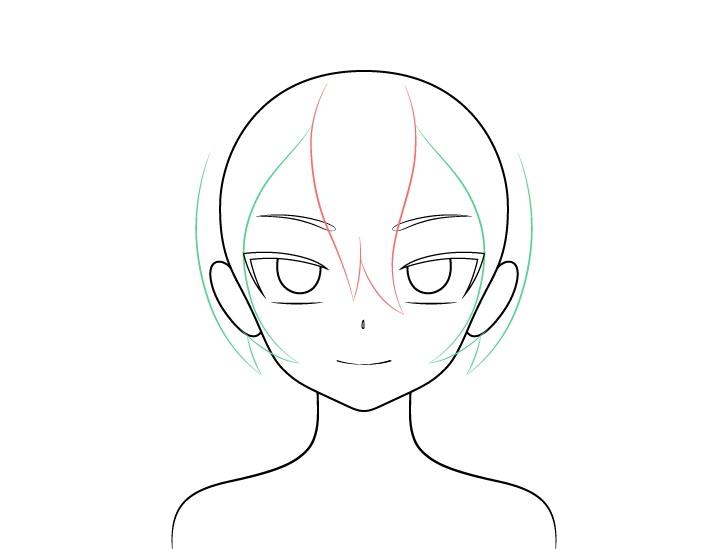 Gambar sisi rambut gadis vampir anime