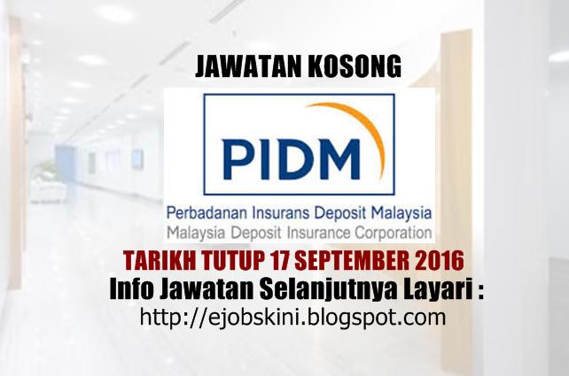 jawatan kosong di pidm september 2016