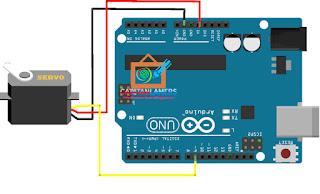 Kendali Arah Micro Servo Motor Tower Pro SG90 Menggunakan Arduino