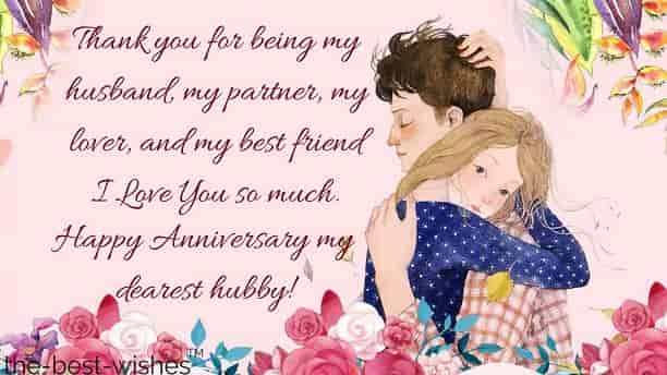 romantic happy marriage anniversary wishes for husband