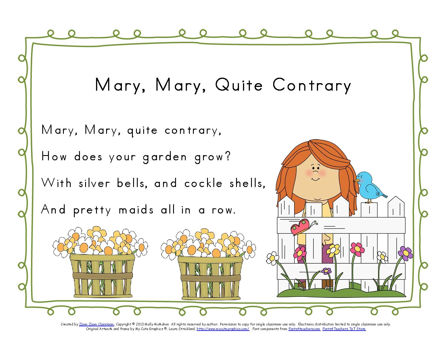 Nursery Rhyme Clip Art
