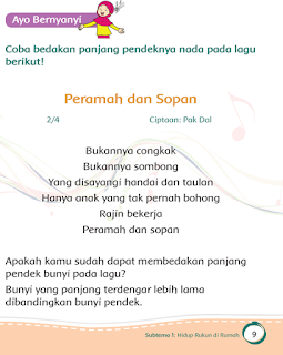 Lirik lagu peramah dan sopan