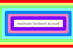 How to Reactivate Your Facebook
