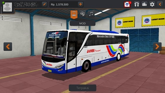 Livery JBHD2 New Setra MD Creation Jambi Transport