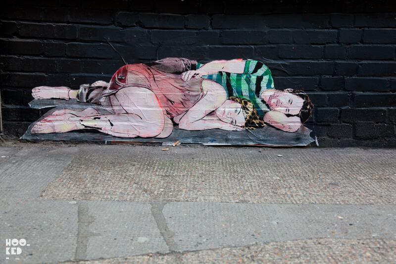London Stencil work by French Artists JANA & JS
