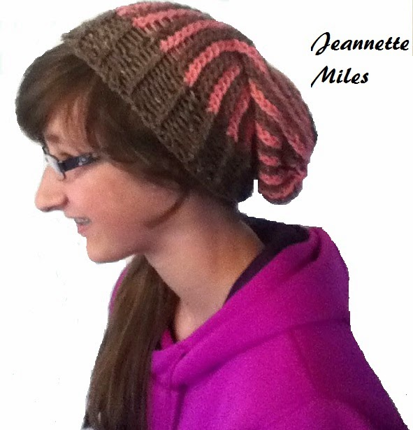 Knifty Knitter Vertical Striped hat