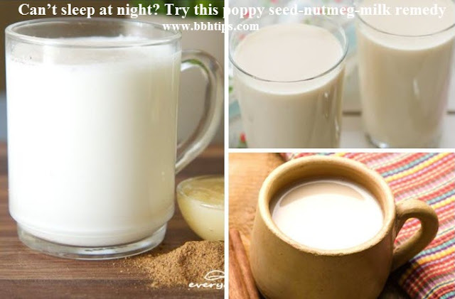 Can't sleep at night? Try poppy seed-nutmeg-milk remedy