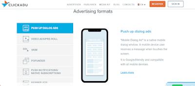 Click Adu ad formats