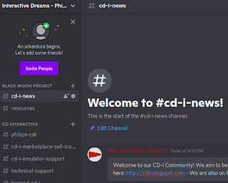 Now open! The new Interactive Dreams: Philips CD-i Zone Discord Server – an open place for everyone who want to learn, share and discover CD-i