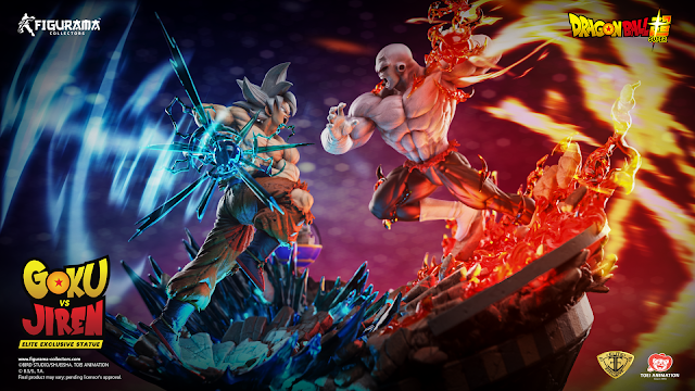 Figurama Collectors revela la primera resina de Dragon Ball Super - Goku VS Jiren Elite