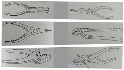 Types of Pliers in Hindi