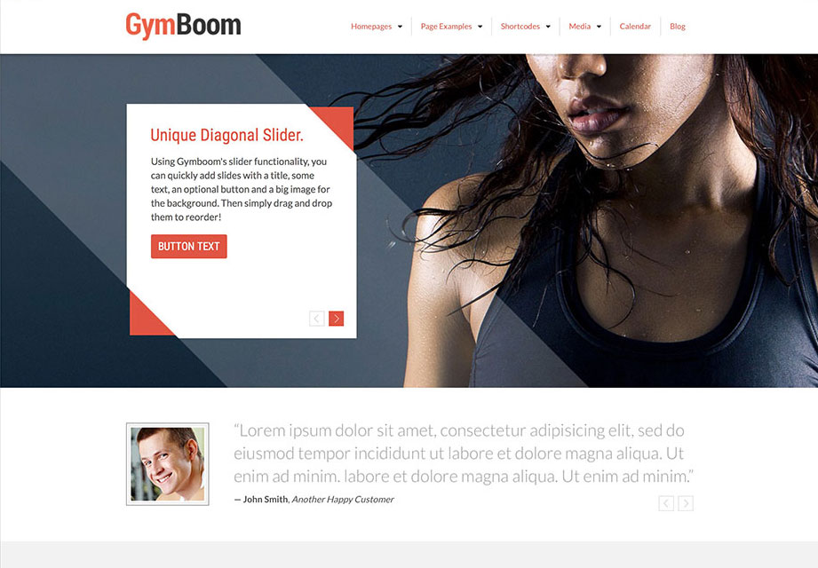 GymBoom Fitness/Gym WordPress Theme