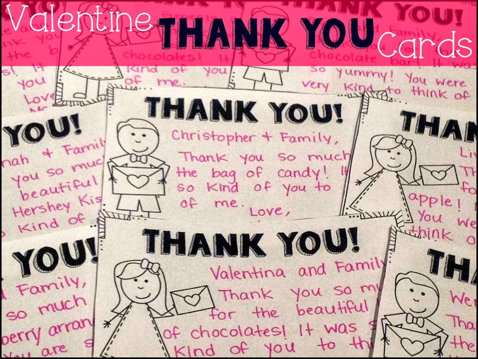 primary junction  valentine thank you cards