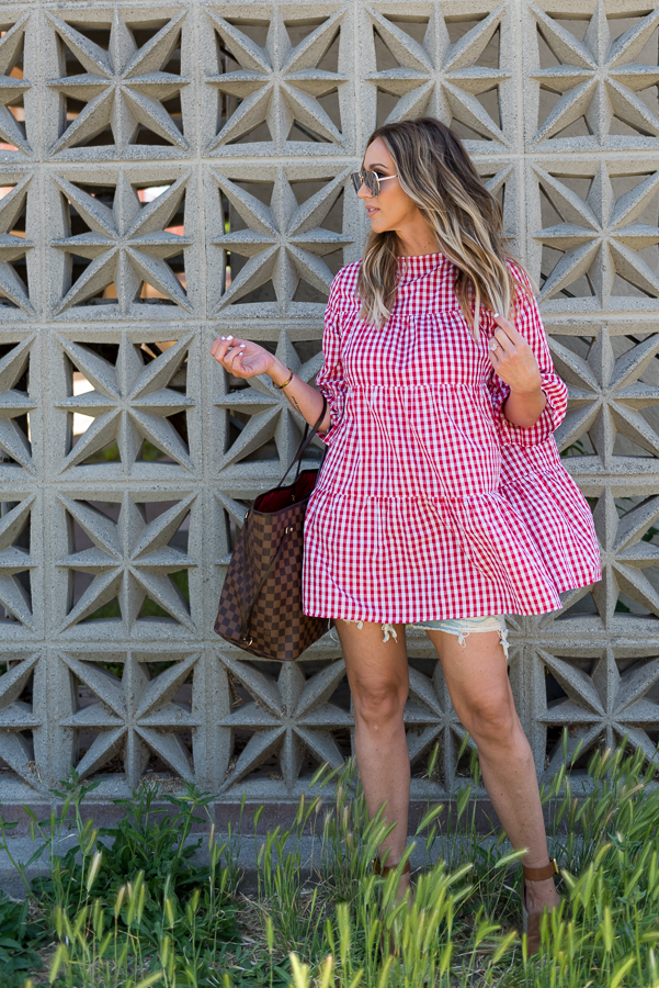 red gingham babydoll dress parlor girl