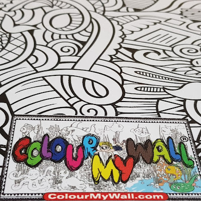 ColourMyWall Draw On Wall Paper logo and small portion of poster