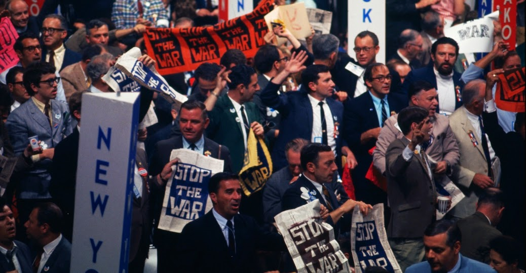 Anti War Protests Rocked The 1968 Democratic Convention In Chicago Illinois As More Than 10000 Demonstrators Took To Citys Streets