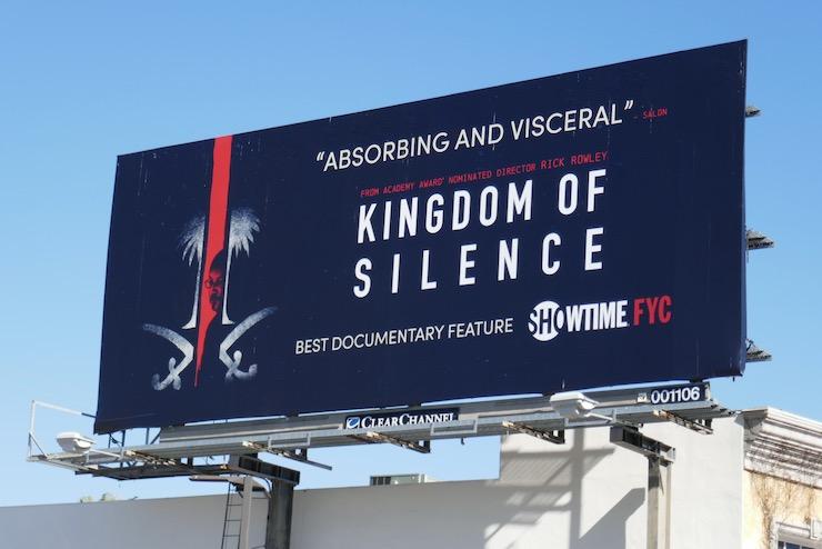 Kingdom of Silence consideration billboard